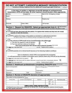 photograph regarding Printable Do Not Resuscitate Form titled Dnar kind - Fill Out and Signal Printable PDF Template SignNow