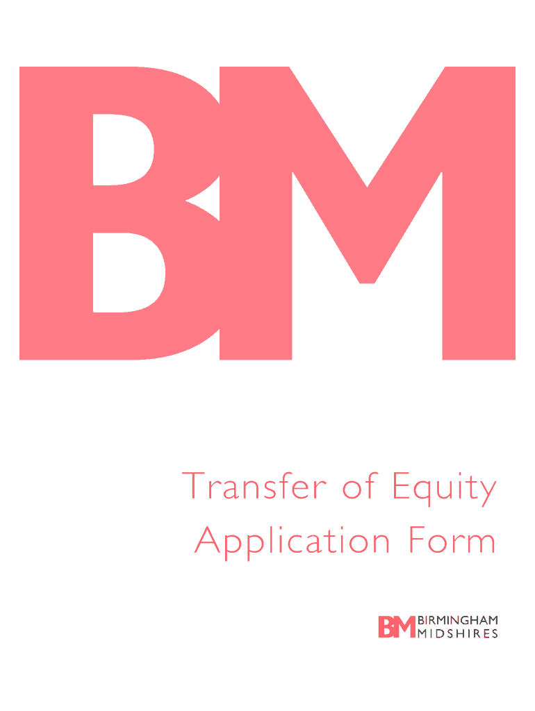 Get And Sign Transfer Of Equity With Birmingham Midshires Form 2012-2021