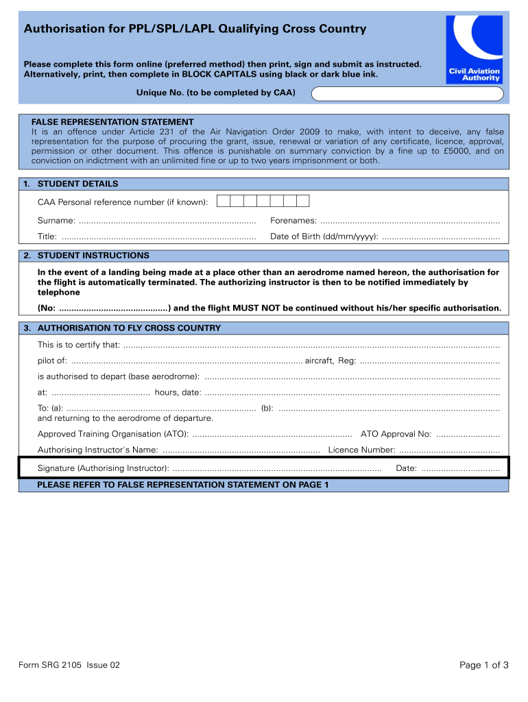 Get And Sign Srg 2105 Form