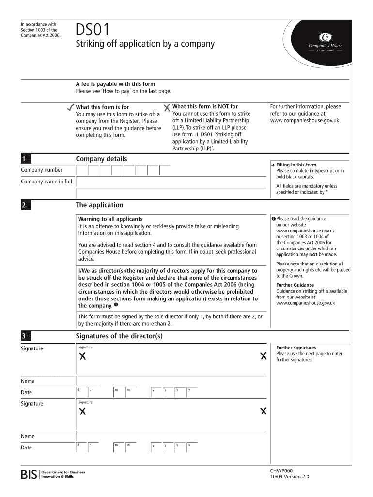 Get And Sign Ds01 Form 2009-2021