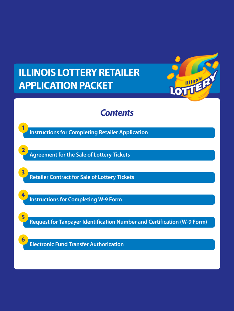 Get And Sign Illinois Lottery Application Form