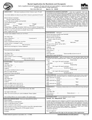 National Apartment Association Lease Form Fill Out And Sign