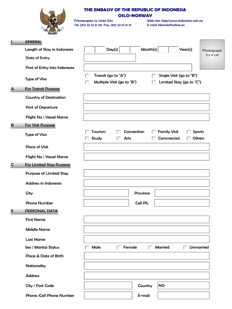 Visa Application Form Fill Out And Sign Printable Pdf Template Signnow