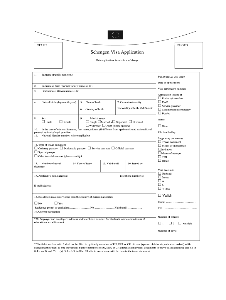 Sample Schengen Visa Application Form Filled Fill Out And Sign Printable Pdf Template Signnow