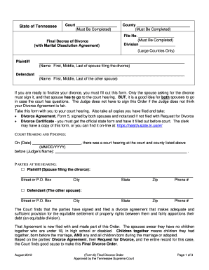 What Does A Divorce Decree Look Like Fill Out And Sign