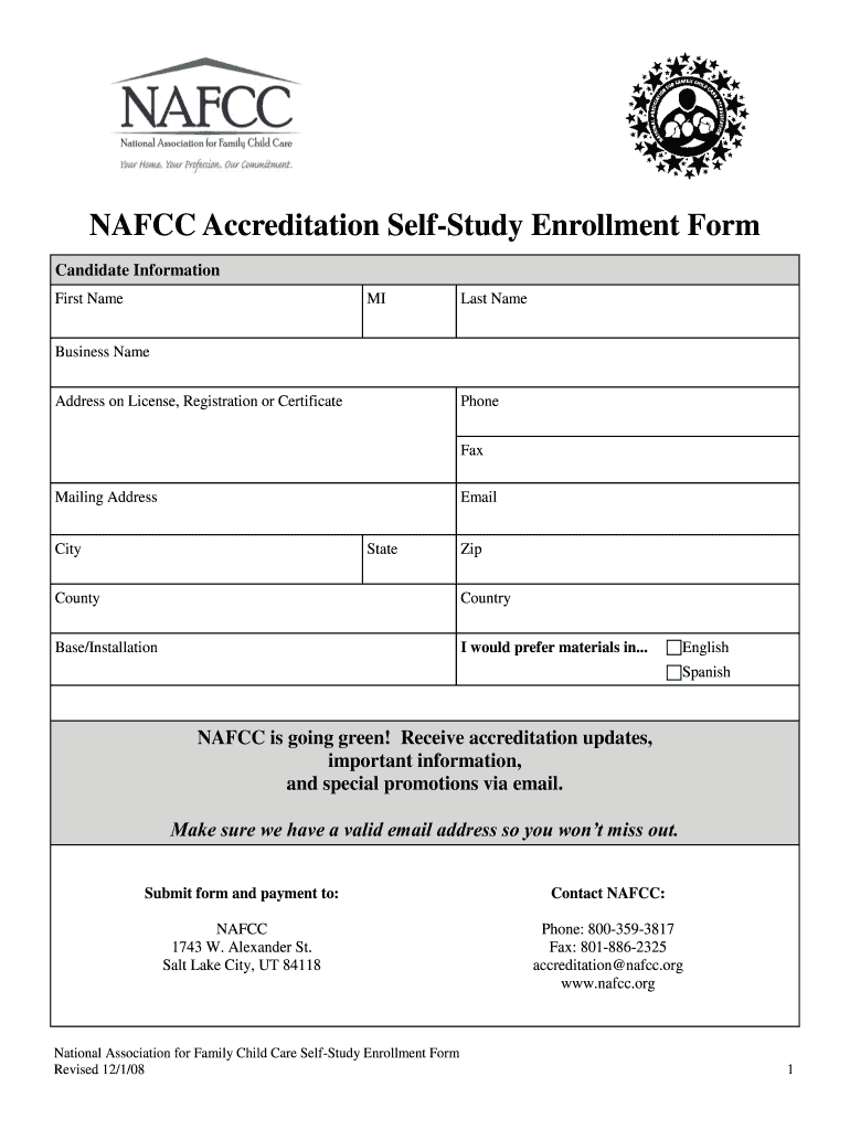 Get And Sign Nafcc Forms 2008-2021