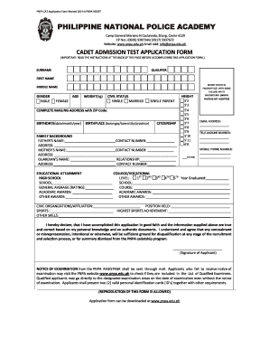 Pnpa application form 2014-2019 - Fill Out and Sign