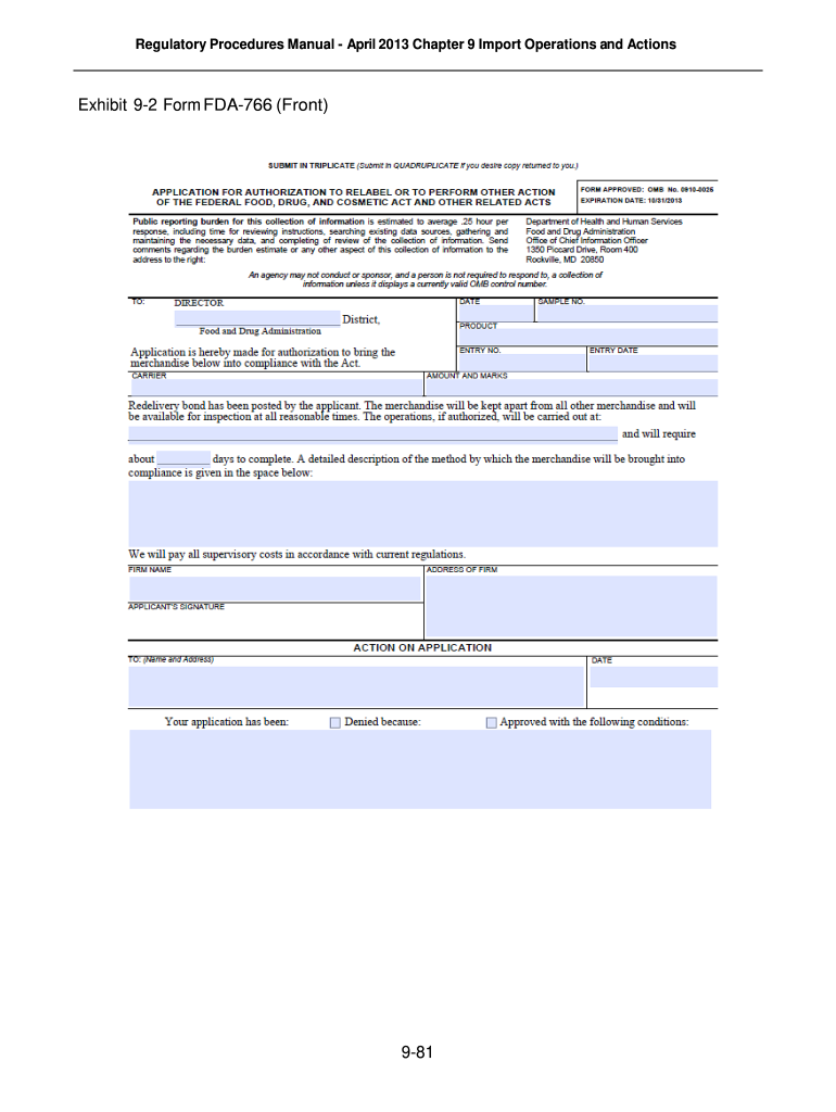 Get And Sign Fda 766 2013-2021 Form