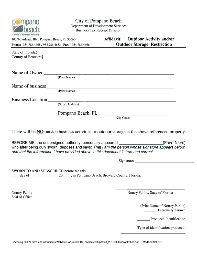 Get And Sign Pompano Beach Certificate 2013-2021 Form