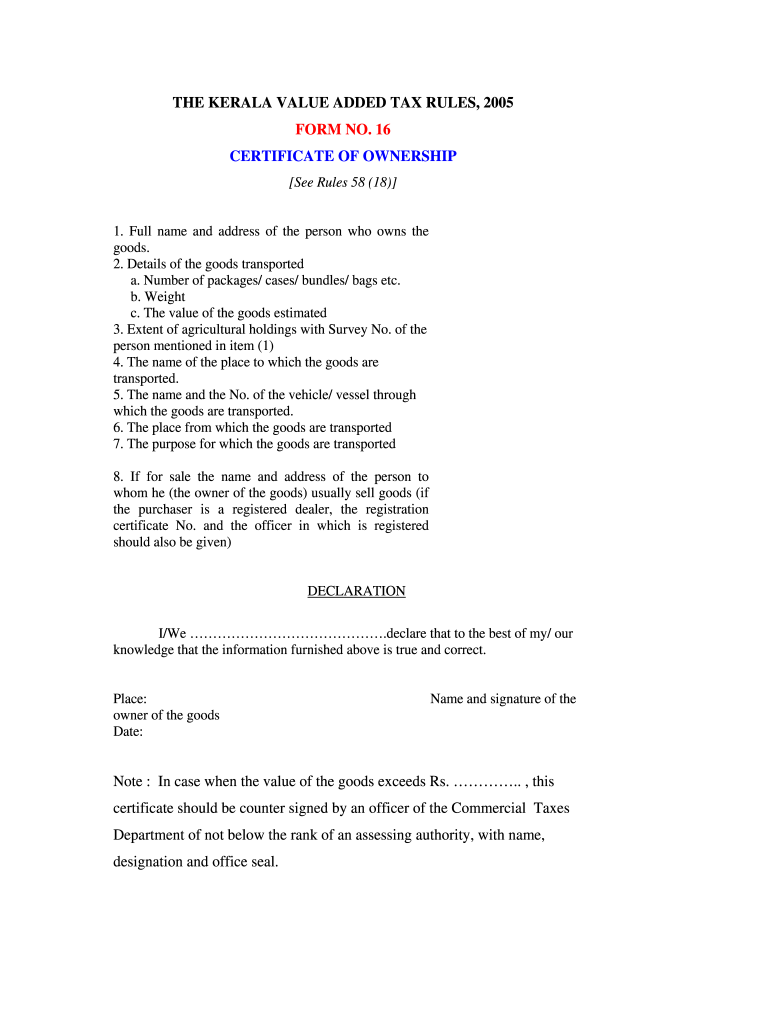 Get And Sign Certificate Of Ownership Pdf 2005-2021 Form