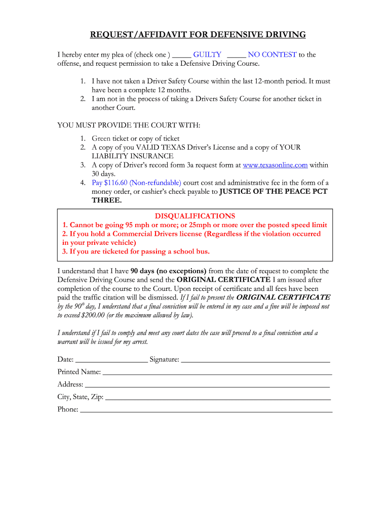 Get And Sign Johnson County Defensive Driving Affidavit Form