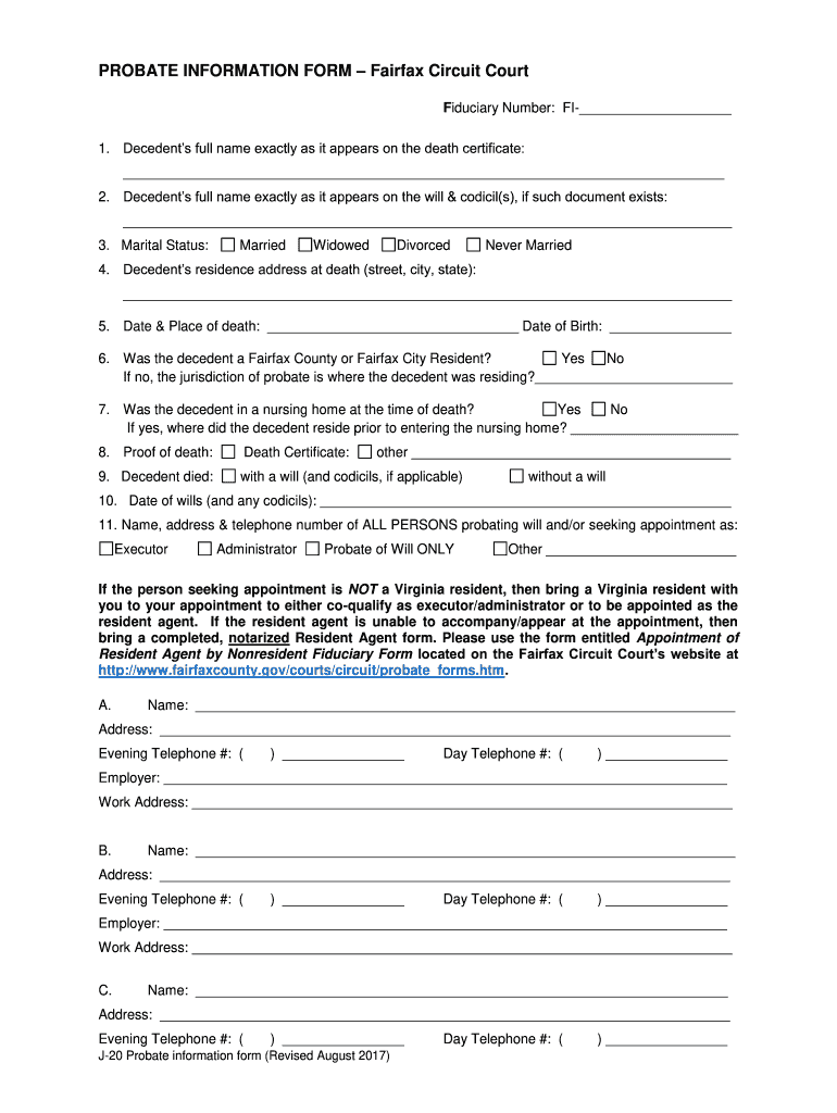 Get And Sign Fairfax County Probate Forms 2006-2021