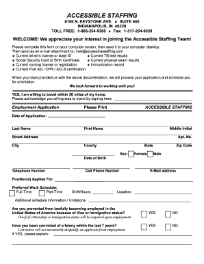 Accessible Staffing Print Out Application Form Fill Out