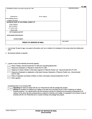 Proof of service by mail fl686 form - Fill Out and Sign Printable