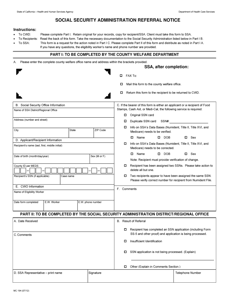 Get And Sign Mc 194 Form