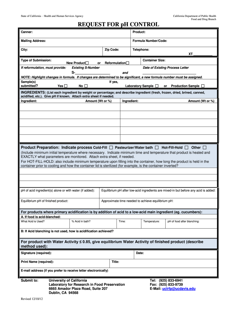 Get And Sign Request For Ph Control Form 2012-2021