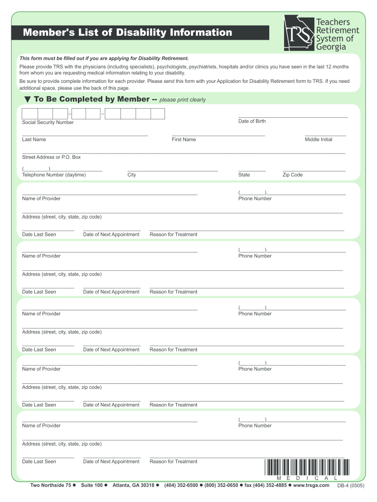 Get And Sign Print Disability Forms Texas 2005-2021