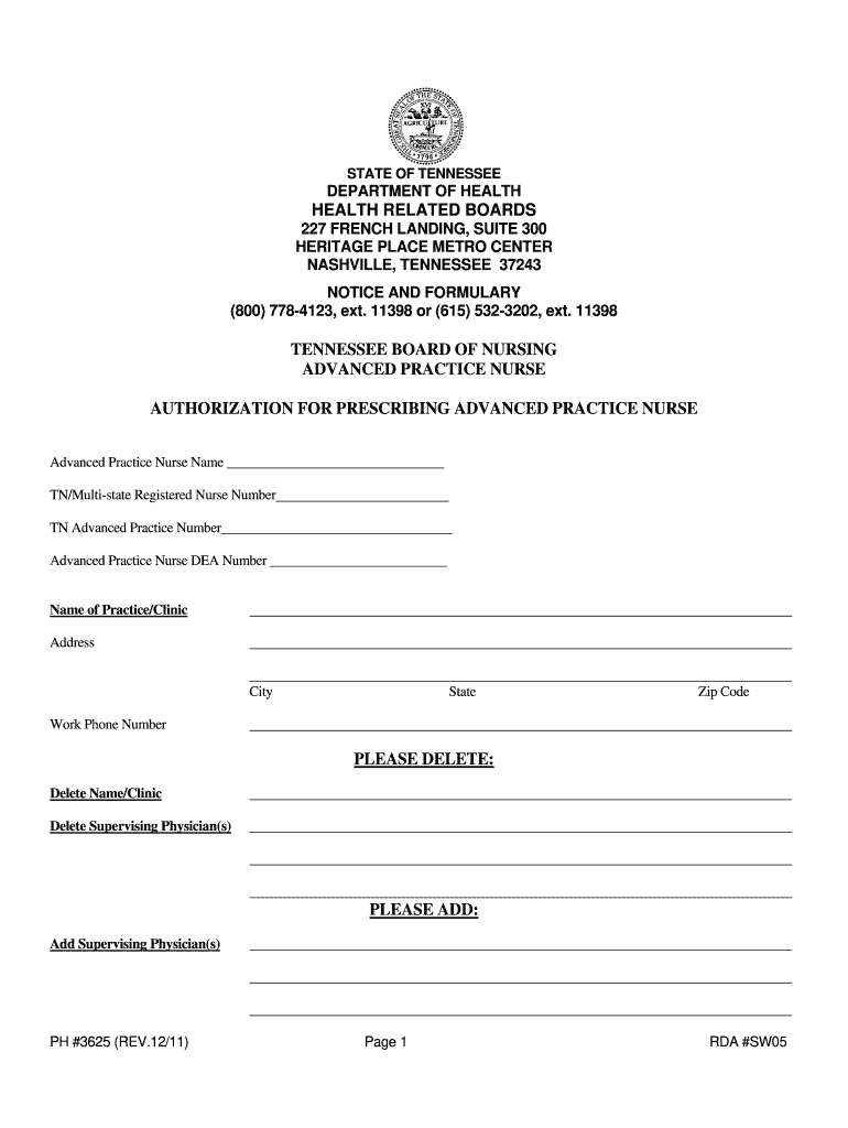 Get And Sign Tn Bor Nursing 2011-2021 Form