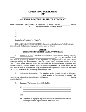 Photography Llc Operating Agreement Form Fill Out And Sign