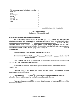 image relating to Free Printable Quit Claim Deed Ohio named Prevent assert deed maricopa county type - Fill Out and Indicator