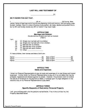 photograph about Printable Will Forms identified as Prison styles previous will and testomony - Fill Out and Indicator