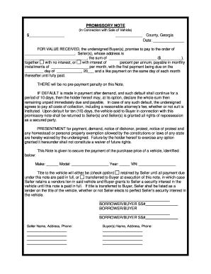 Promissory Note Template Georgia Fill Out And Sign Printable Pdf Template Signnow