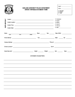 Get And Sign Police Statement Form