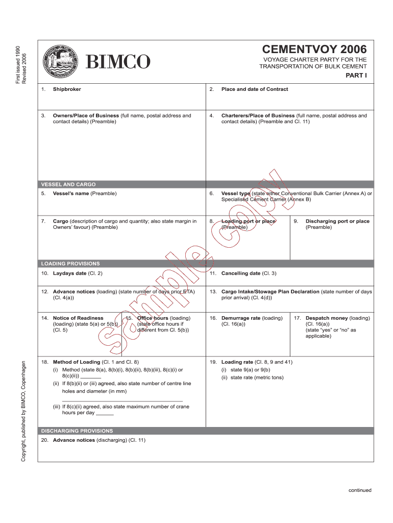 Get And Sign Cementvoy Form