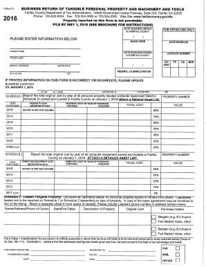 Fairfax County Personal Property Tax >> Form 2ta Business Return Of Tangible Fairfaxcounty Fill Out And