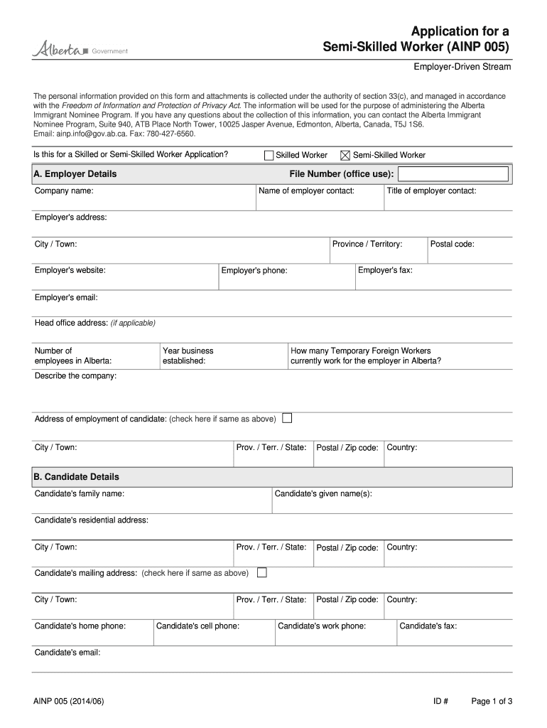 Get And Sign Low Semi Skilled Work In Canada 2014-2021 Form