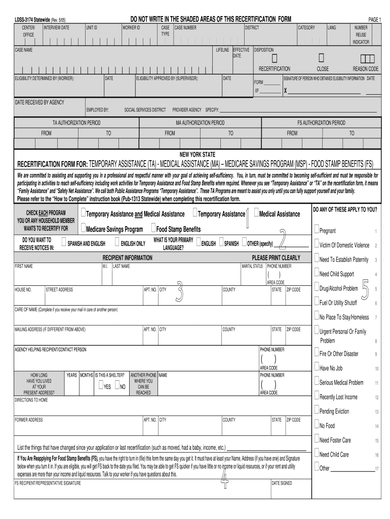 Get And Sign Ldss 3174 Form 2005-2021