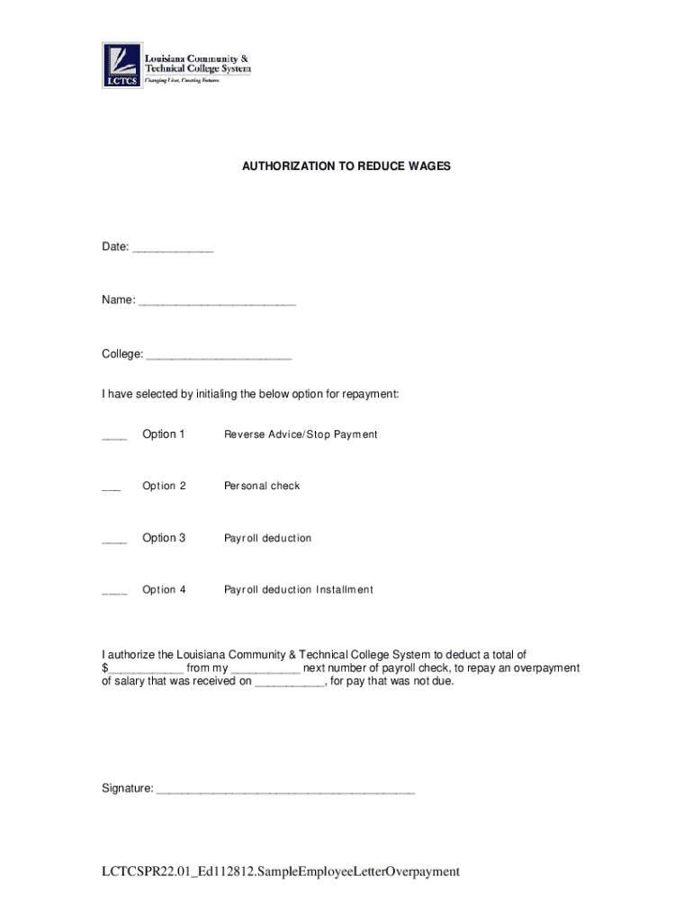 Get And Sign Overpayment Letter To Employee 2012-2021 Form