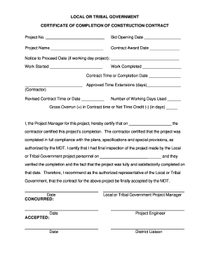 Roofing Certificate Of Completion Template Form Signnow Fill Out