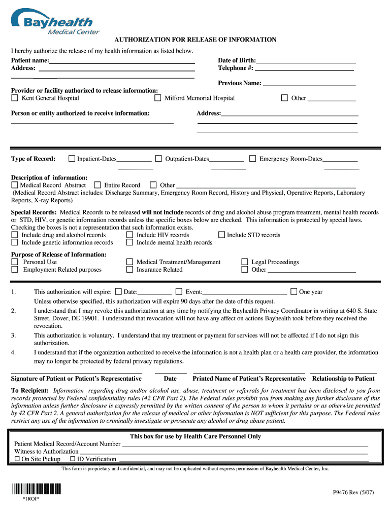 Get And Sign Bayhealth Occupational Health 2007-2021 Form