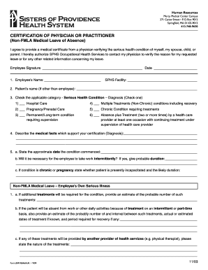 graphic about Fmla Printable Forms titled Certificate non fmla health-related kind - Fill Out and Indication