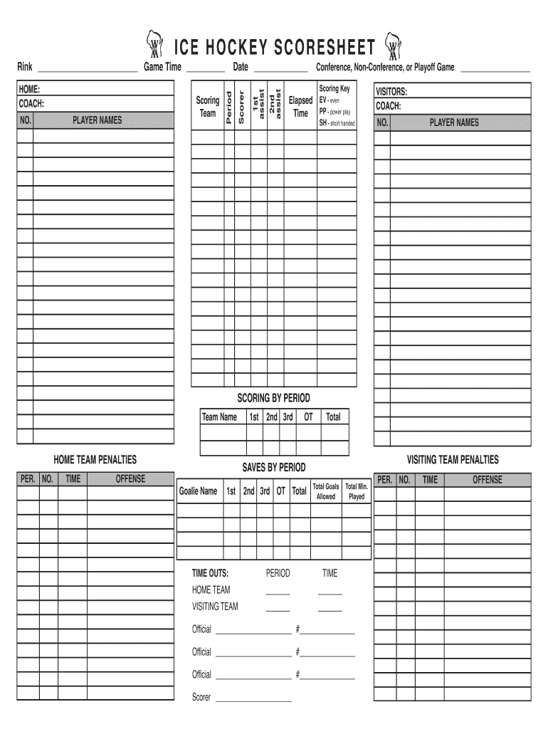 Get And Sign Hockey Scoresheet Form
