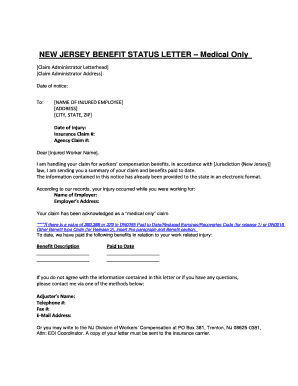 Get And Sign Letter To The N J State Board Of Medical Examiners Form
