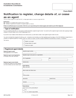 Get And Sign Asic Form Ra01 2015-2021