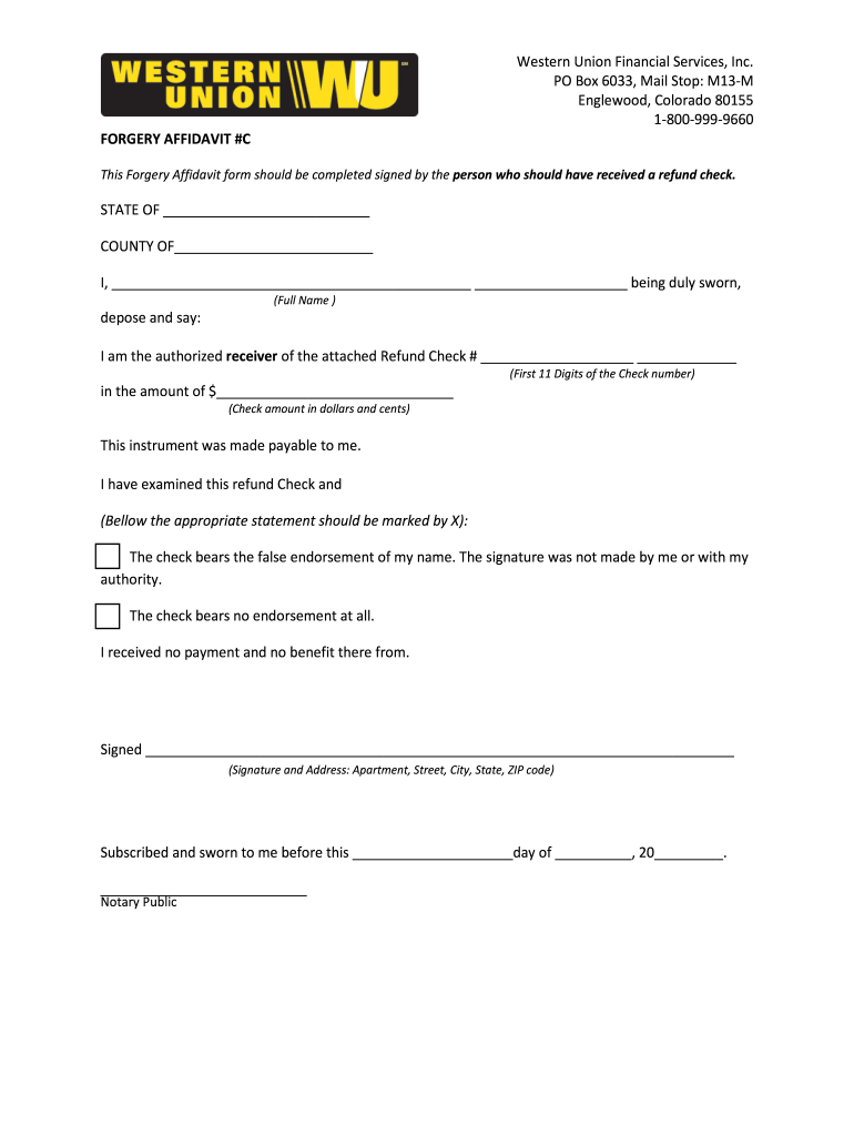 Western union form - Fill Out and Sign Printable PDF Template | signNow