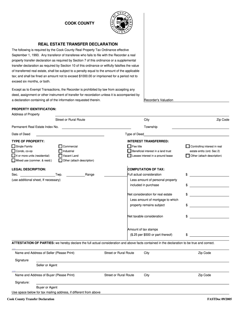Get And Sign Transfer Declaration Estate 2005-2021 Form