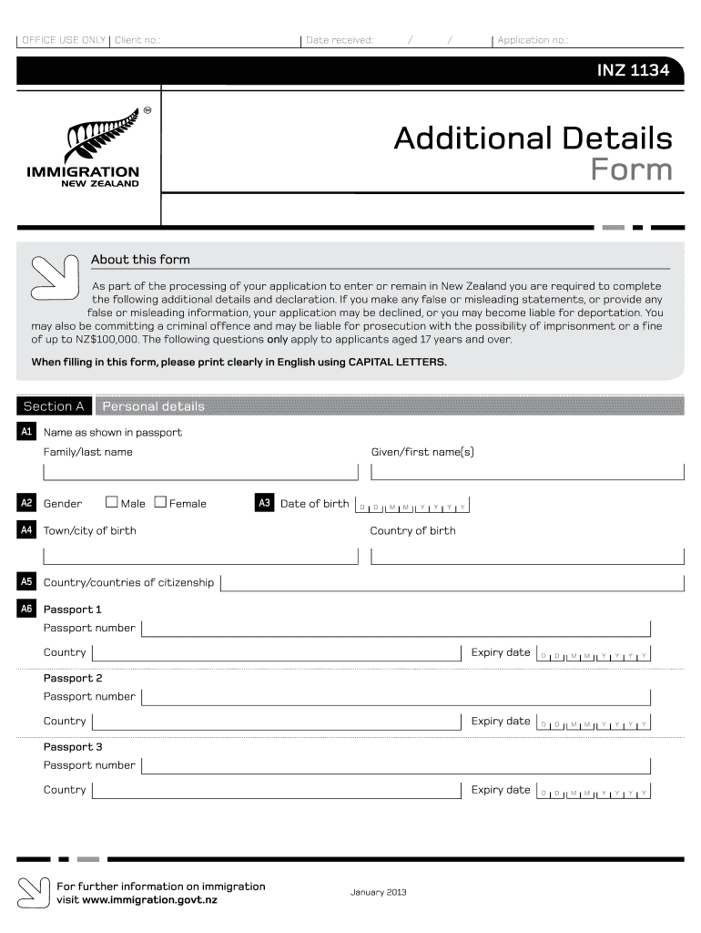 Get And Sign Additional Details Form 2013-2021