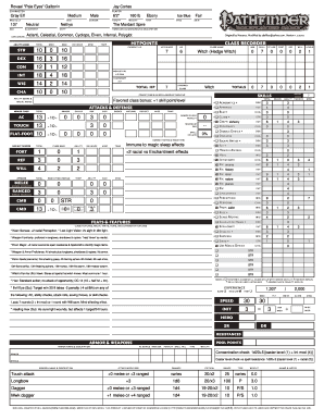photo relating to Pathfinder Character Sheets Printable titled Neceros Pathfinder RPG Temperament Sheet Stop by wwwneceroscom