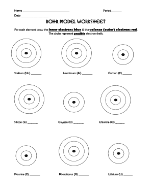 Bohr model worksheet with answers form - Fill Out and Sign Printable ...