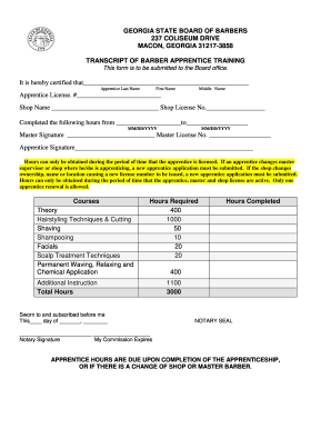 Transcript for cosmetology school form - Fill Out and Sign Printable
