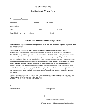 Camp Registration Form Template Fill Out And Sign