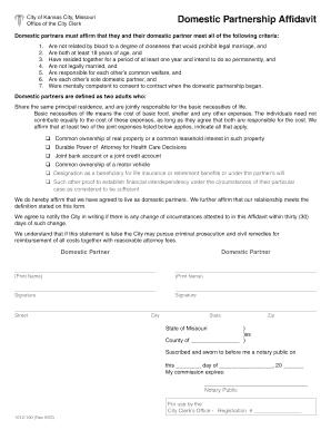 Missouri partnership affidavit form - Fill Out and Sign Printable