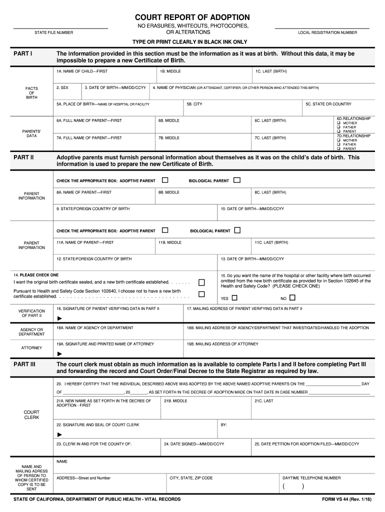 Get And Sign Form Vs 44 2016-2021