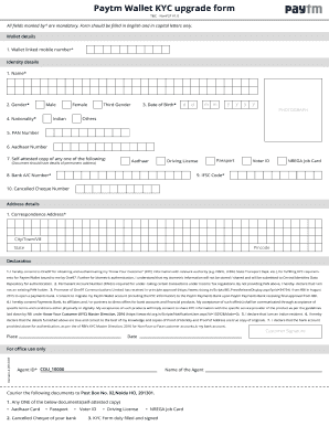 Paytm kyc form - Fill Out and Sign Printable PDF Template