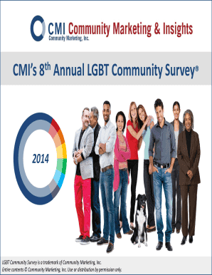 Get And Sign CMIs 8th Annual LGBT Community Survey  Gay Ad Network Form