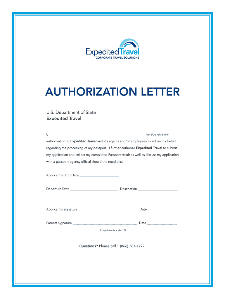 Authorization Letter For Passport Collection from www.signnow.com